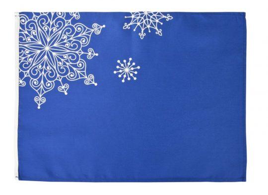 Декоративная салфетка «Снежинки», синяя