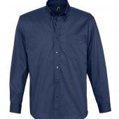 Рубашка мужская с длинным рукавом BEL AIR темно-синяя (кобальт), размер XXL