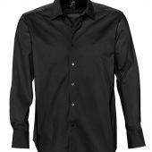 Рубашка мужская с длинным рукавом BRIGHTON черная, размер M