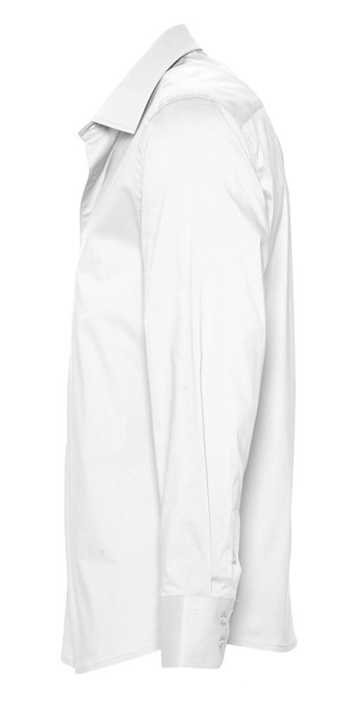 Рубашка мужская с длинным рукавом Brighton белая, размер 4XL