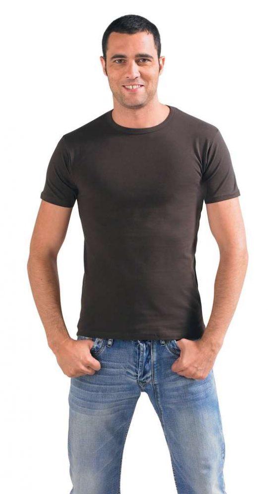 Футболка мужская MILANO 190 темно-коричневая (шоколад), размер XL