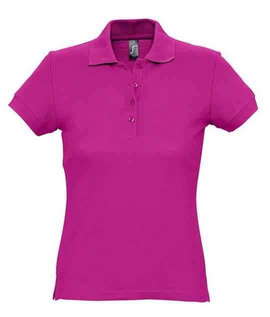 Рубашка поло женская PASSION 170 темно-розовая (фуксия), размер S