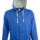 Свитшот мужской Soul men 290 с контрастным капюшоном, ярко-синий, размер XXL