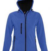 Куртка женская с капюшоном Replay Women ярко-синяя, размер S