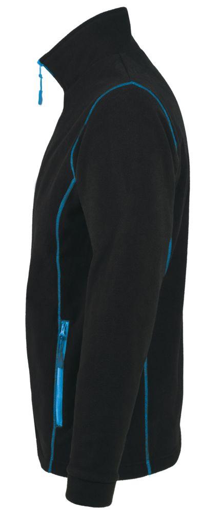 Куртка мужская NOVA MEN 200, черная с ярко-голубым, размер L