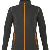Куртка женская NOVA WOMEN 200 темно-серая с оранжевым, размер XXL
