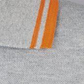 Рубашка поло мужская PASADENA MEN 200 с контрастной отделкой белая с голубым, размер M