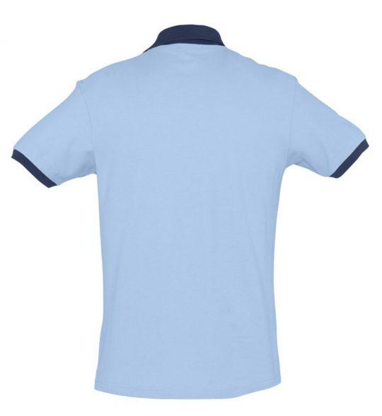 Рубашка поло Prince 190 голубая с темно-синим, размер S