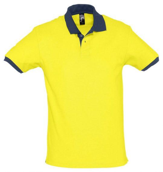Рубашка поло Prince 190 желтая с темно-синим, размер XS