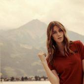 Рубашка поло стретч женская ALBATROSS, лиловая, размер XXL