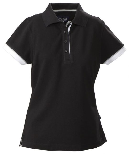 Рубашка поло женская ANTREVILLE, черная, размер M