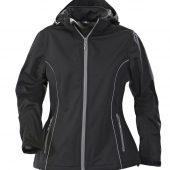 Куртка софтшелл женская HANG GLIDING, черная, размер XL