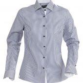 Рубашка женская в полоску RENO LADIES, темно-синяя, размер XL