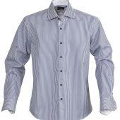 Рубашка мужская в полоску RENO, темно-синяя, размер S