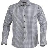 Рубашка мужская в клетку TRIBECA, черная, размер XXL