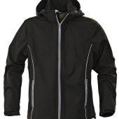 Куртка софтшелл мужская SKYRUNNING, черная, размер S