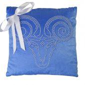 Подушка «Овен», синяя