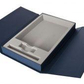 Коробка Triplet под ежедневник, флешку и ручку, синяя