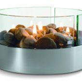 Биокамин Magnifique с базальтовыми камнями
