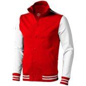 Толстовка «Varsity», красный/натуральный белый ( XL )