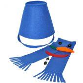 "Набор для лепки снеговика  ""Улыбка"", синий, фетр/флис/пластик"