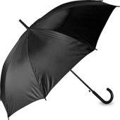 Зонт-трость полуавтоматический с пластиковой ручкой, черный, арт. 003925503