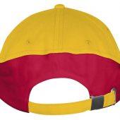Бейсболка BOOSTER, желтая с красным