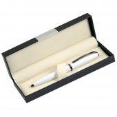 Шариковая ручка, Opera, поворотный мех-м, белый матовый, отделка черный никель. В УПАКОВКЕ