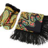 Набор: Павлопосадский платок, рукавицы, арт. 005314803