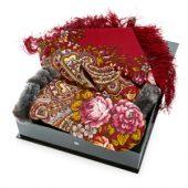 Набор: Павлопосадский платок, рукавицы, арт. 005314903