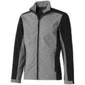 Куртка софтшел «Vesper» мужская, черный/темно-серый ( 2XL )
