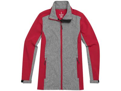Куртка софтшел «Vesper» женская, красный/темно-серый ( XL )