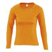 Футболка женская с длинным рукавом MAJESTIC оранжевая, размер L