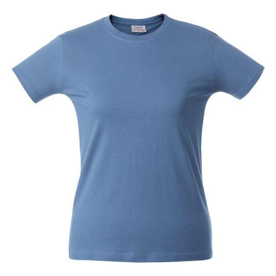 Футболка женская HEAVY LADY голубая, размер S