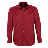 Рубашка мужская с длинным рукавом BRIGHTON красная, размер 3XL