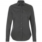 Рубашка женская BECKER WOMEN, темно-серая с белым, размер S