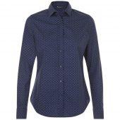 Рубашка женская BECKER WOMEN, темно-синяя с белым, размер XL
