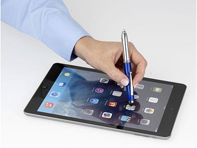"""Ручка-стилус шариковая """"Xenon"""", ярко-синий, синие чернила ( синие чернила )"""