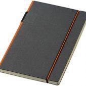 Блокнот А5 «Cuppia», черный/оранжевый
