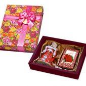 """Набор """"С Праздником"""": кукла декоративная, шоколадные конфеты """"Конфаэль"""", арт. 005752403"""