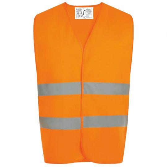 Жилет светоотражающий SECURE PRO оранжевый неон, размер S/M