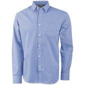 Рубашка «Net» мужская с длинным рукавом, синий ( XS )