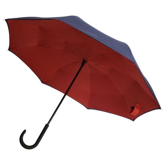 Зонт-трость Unit Style,сине-красный