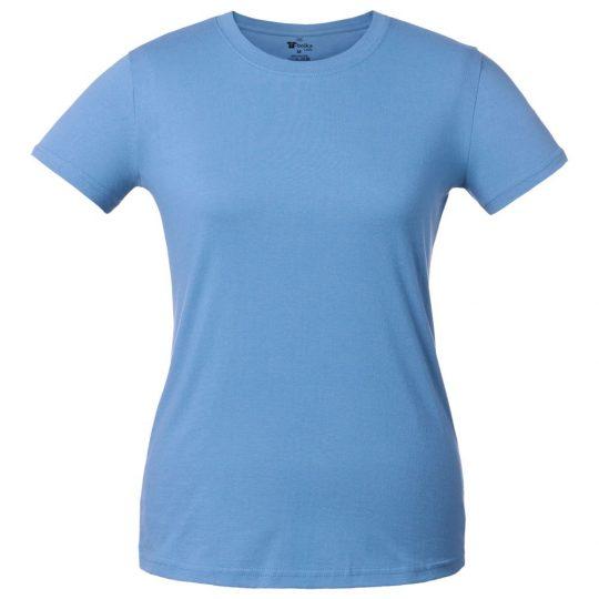 Футболка женская T-bolka Lady голубая, размер XL