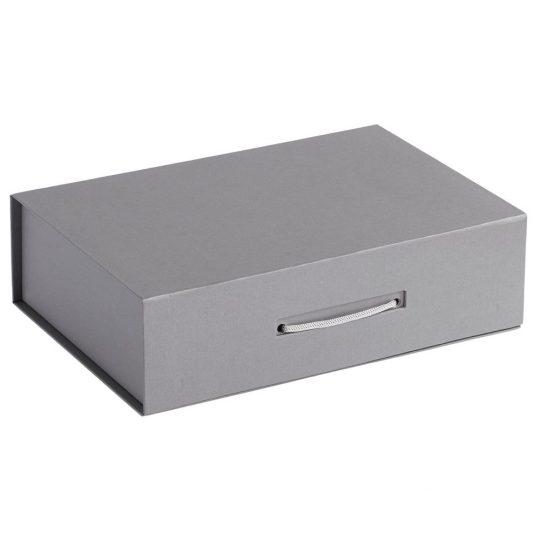 Коробка Case, подарочная, серебристая