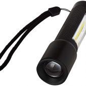 Компактный фонарь с лампой сбоку, черный, арт. 009157403