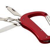 Нож Canyon с карабином, 5 функций, красный, арт. 009158603