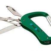 Нож Canyon с карабином, 5 функций, зеленый, арт. 009158403