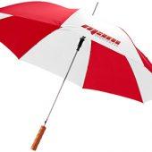 """Зонт-трость """"Lisa"""" полуавтомат 23″, красный/белый, арт. 009095603"""