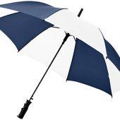 Зонт Barry 23″ полуавтоматический, темно-синий/белый